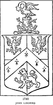Coat of Arms of John Lidgbird Sheriff of Kent, 1741