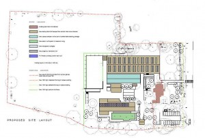 Plan of the area where the centre will be after the Centre is built taken from the planning documents