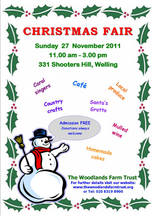 Woodlands Farm Christmas Fair Sunday 27th November 2011