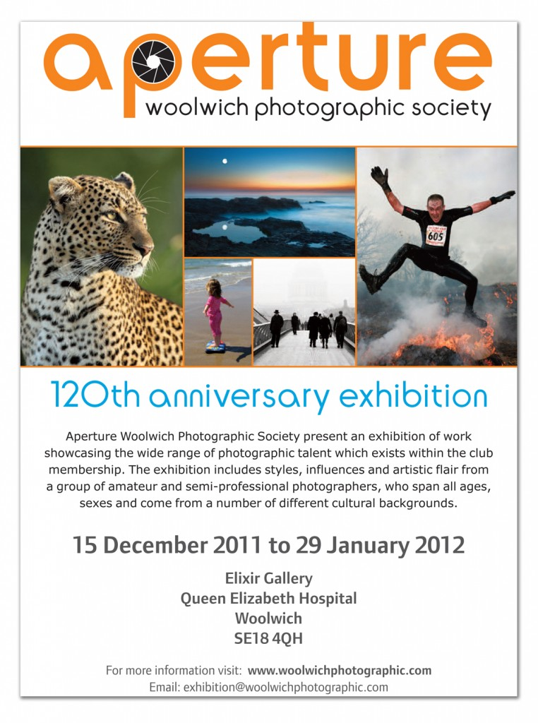 aperture poster about the Queen Elizabeth Hospital exhibition