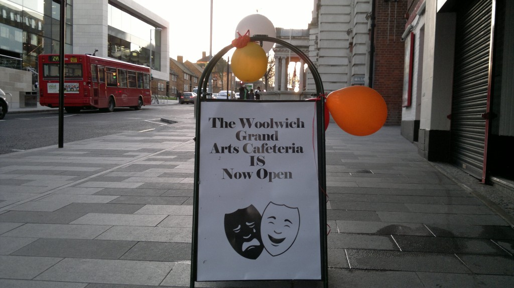 The Woolwich Grand Arts Cafeteria is Now Open