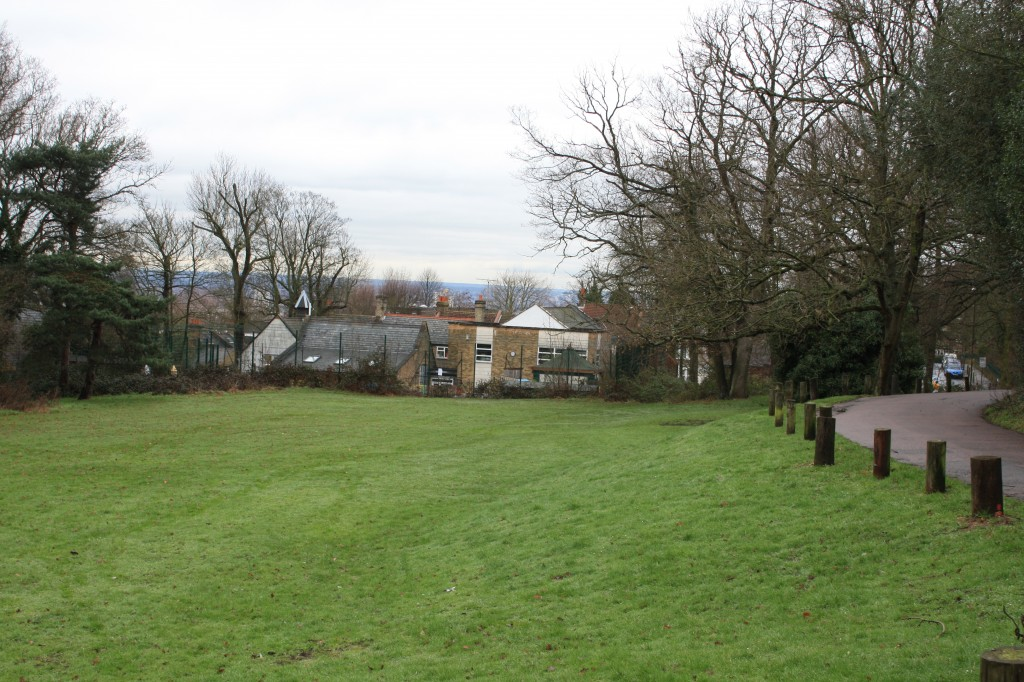 Eltham Common at the back of Christ Church School