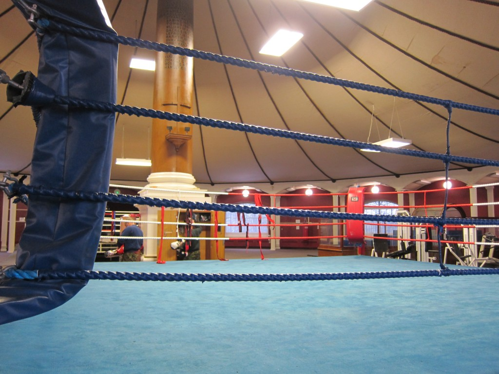 Boxing ring in the Rotunda