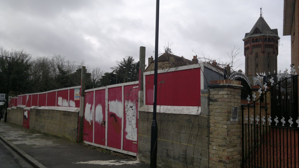 Hoardings round plot in Eaglesfield Road