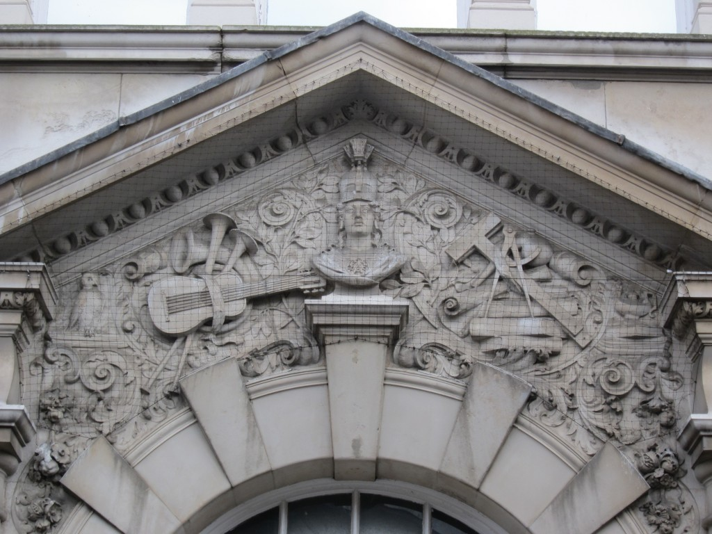 Detail of the Polytechnic building in Polytechnic Street