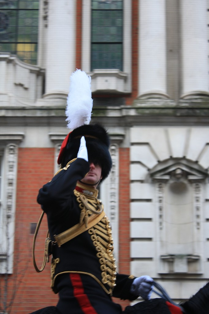 Salute of the King's Troop outside Woolwich Town Hall