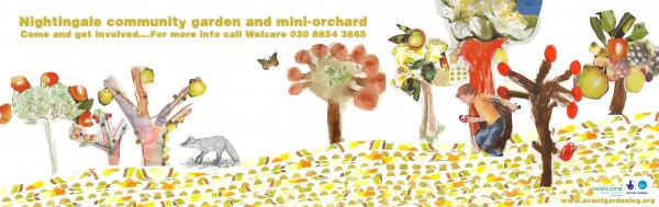 Nightingale Community Gardens Mini-orchard Banner