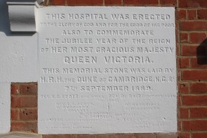 Memorial stone at Castlewood