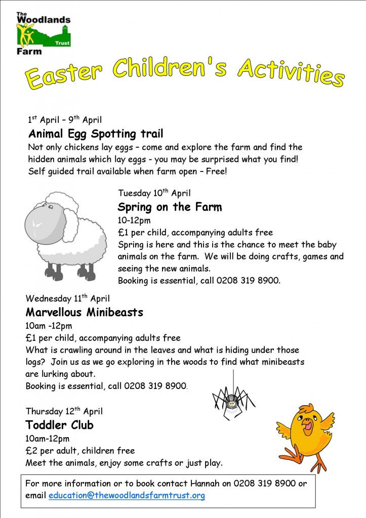 Woodlands Farm Activities Easter 2012