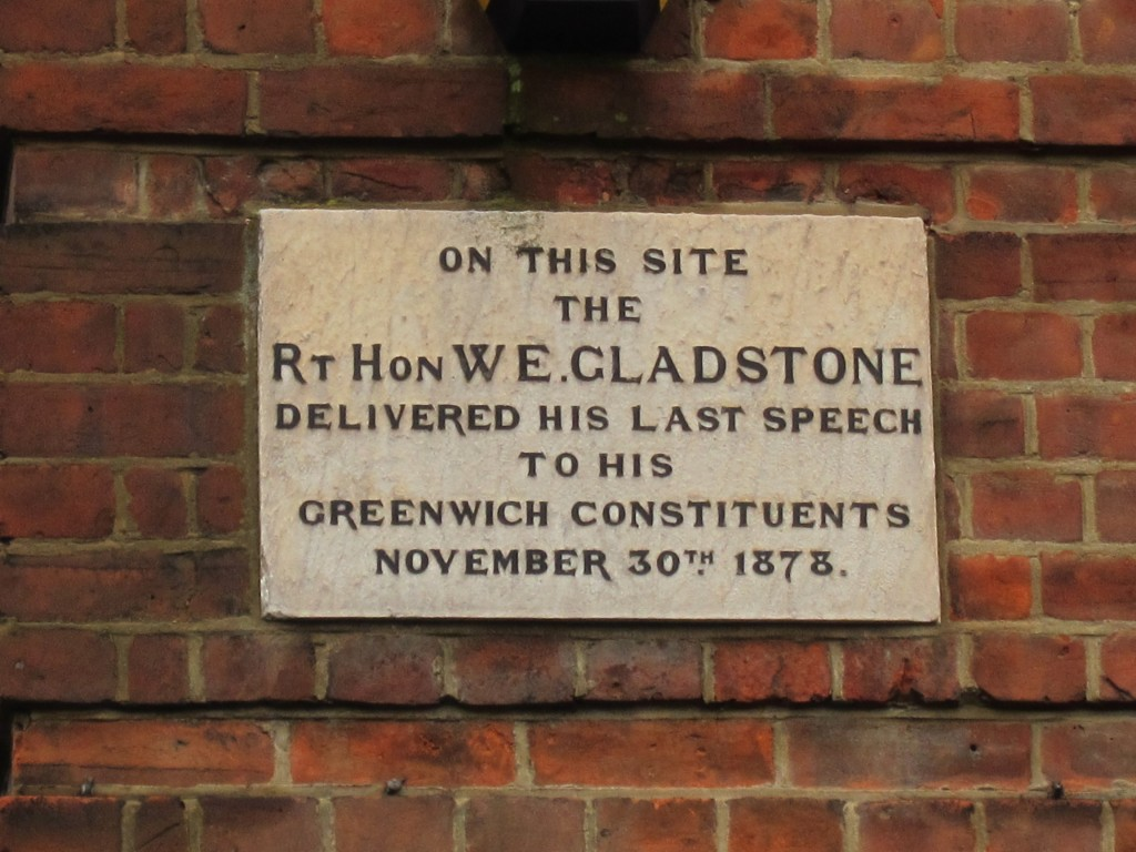 Gladstone Plaque on Eglinton Road School