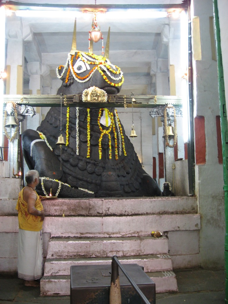 Nandi Idol at the Bull Temple in Bangalore
