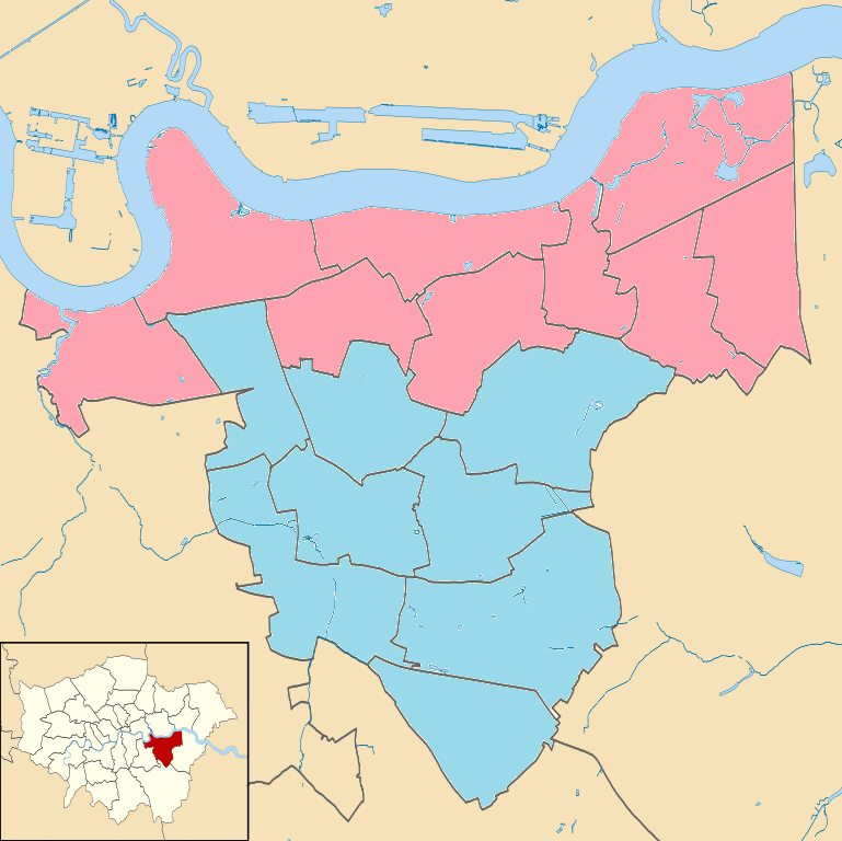 2008 London Mayoral Elections Greenwich Ward Map