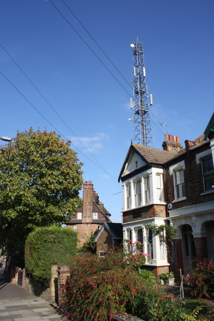 Shooters Hill Fire Station Mast from Eaglesfield Road