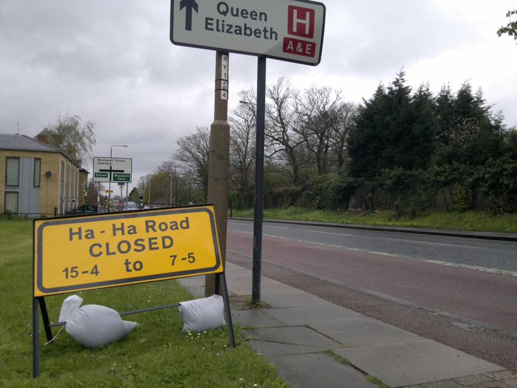 Ha-Ha Road closed