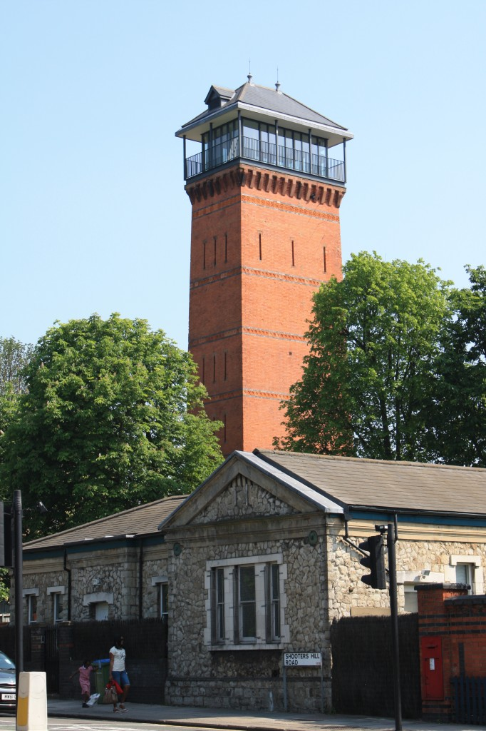 Water tower at the former Brook Hospital