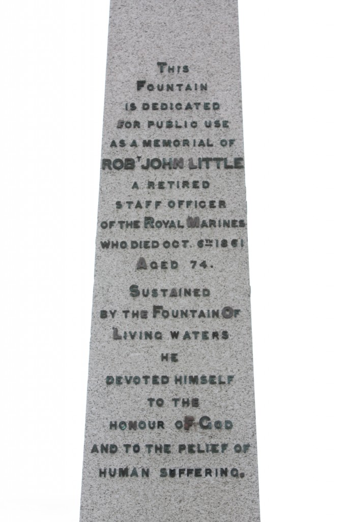 Detail of Major Little's memorial obelisk
