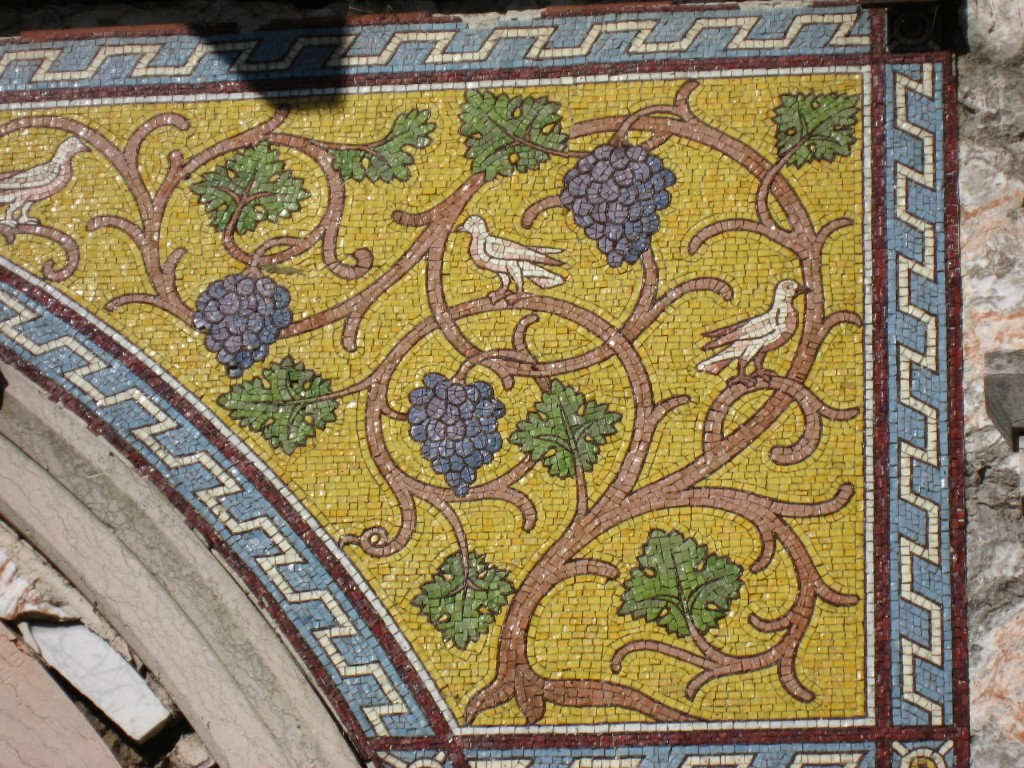 Vine mosaic in St George's Garrison Church