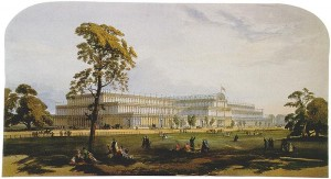 Crystal Palace from the northeast from Dickinson's Comprehensive Pictures of the Great Exhibition of 1851