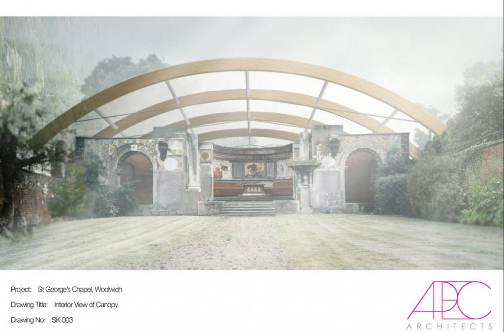 APEC Architects' vision of the new apse canopy