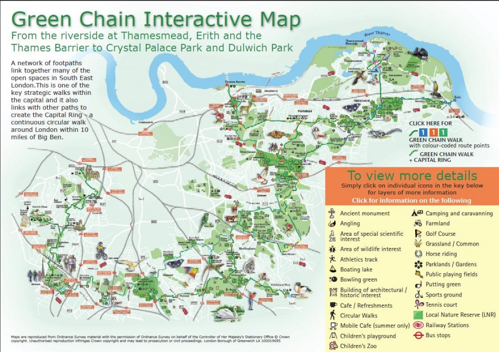 Interactive map from Green Chain Walk web site