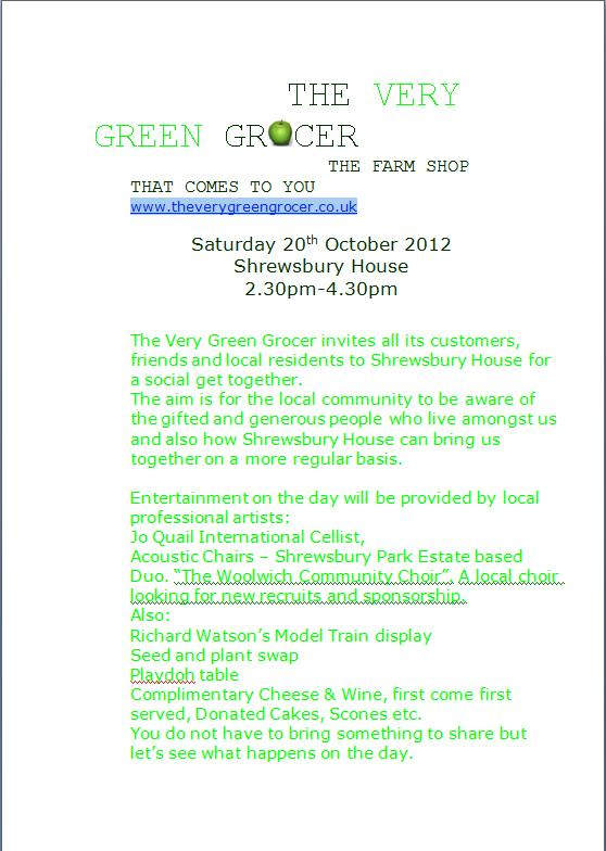 The Very Green Grocer leaflet