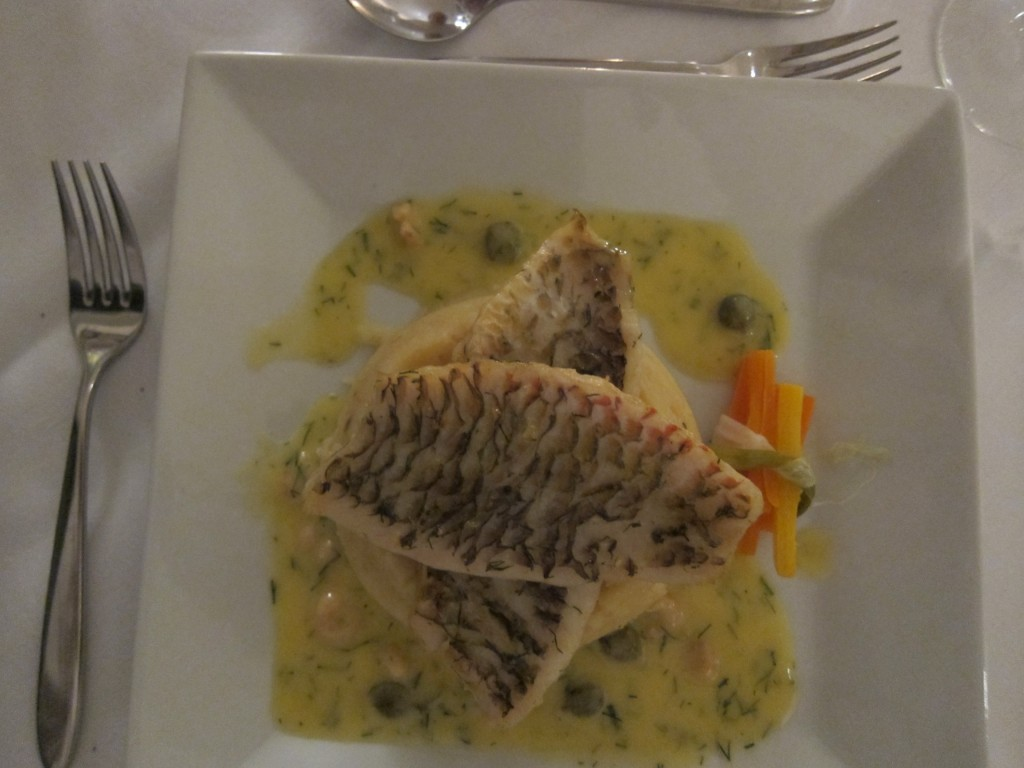 Grilled Parrot Fish with Ginger Garlic Dill & Turmeric Marinade served with Creamed Potatoes