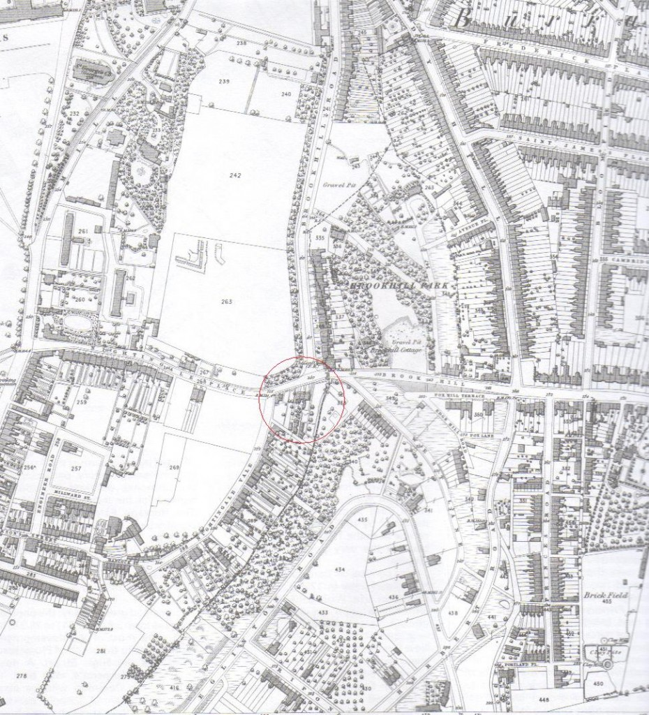 Snippet from 1866 Ordnance Survey Map of Woolwich