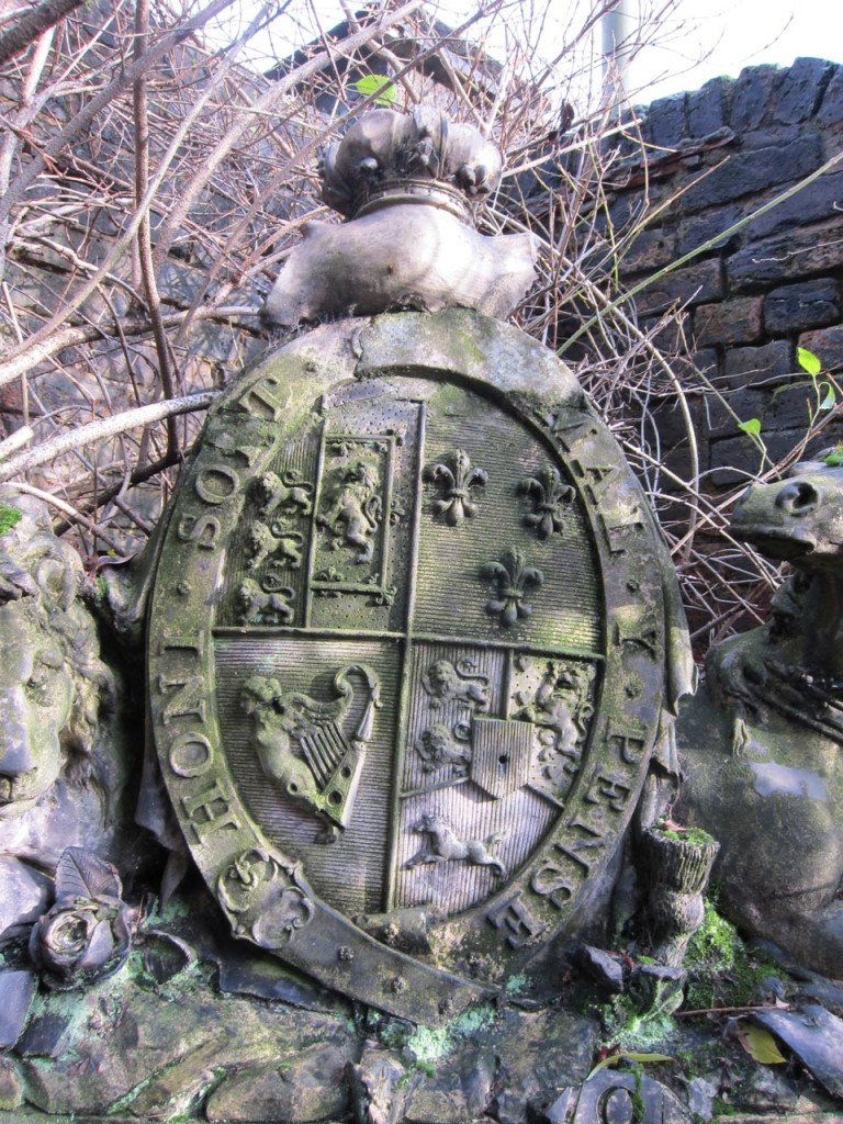 The Coat of Arms in a Shooters Hill garden
