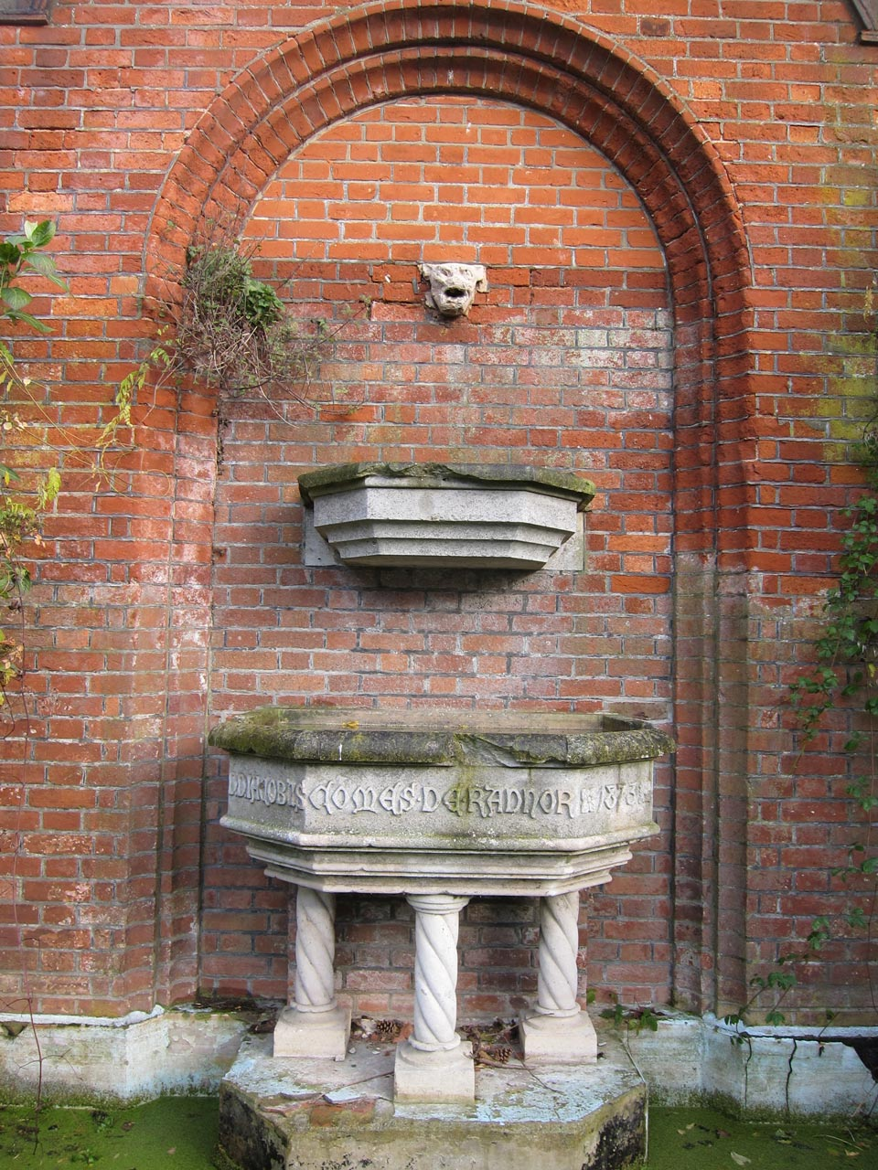 On the terrace of the former Mayfield and Jackwood House