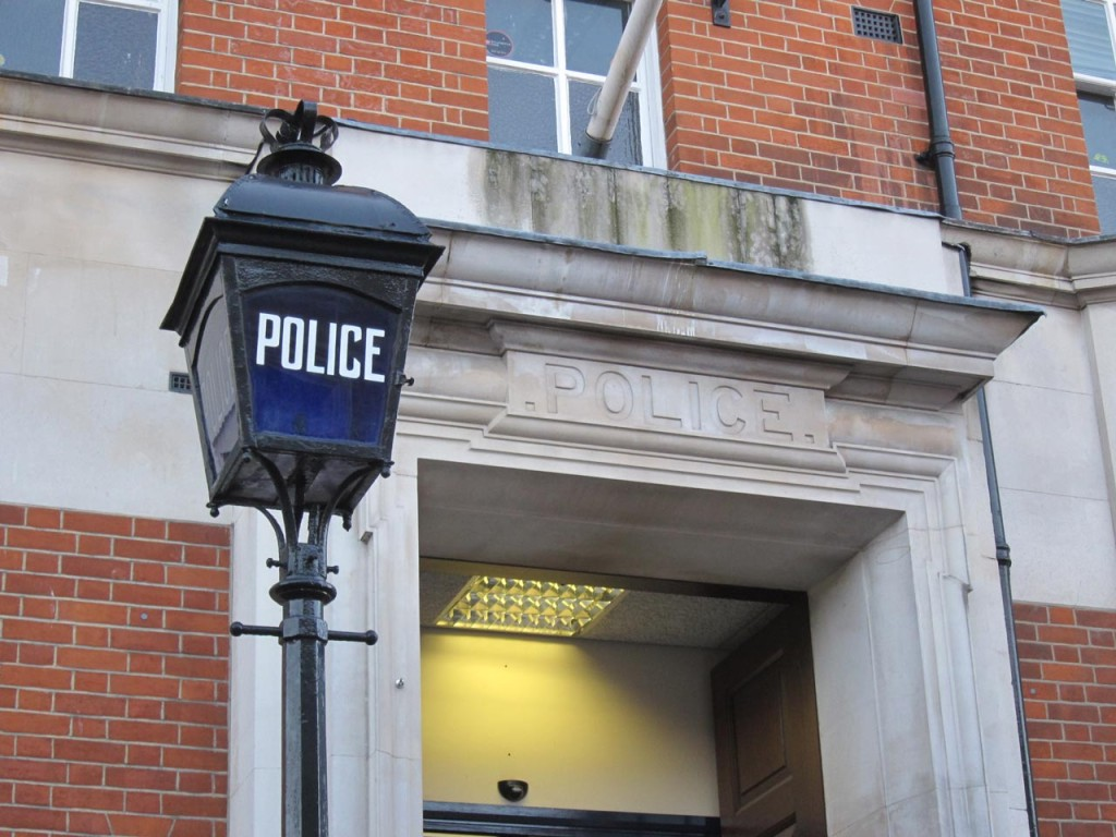 The Blue Lamp at Woolwich Police Station