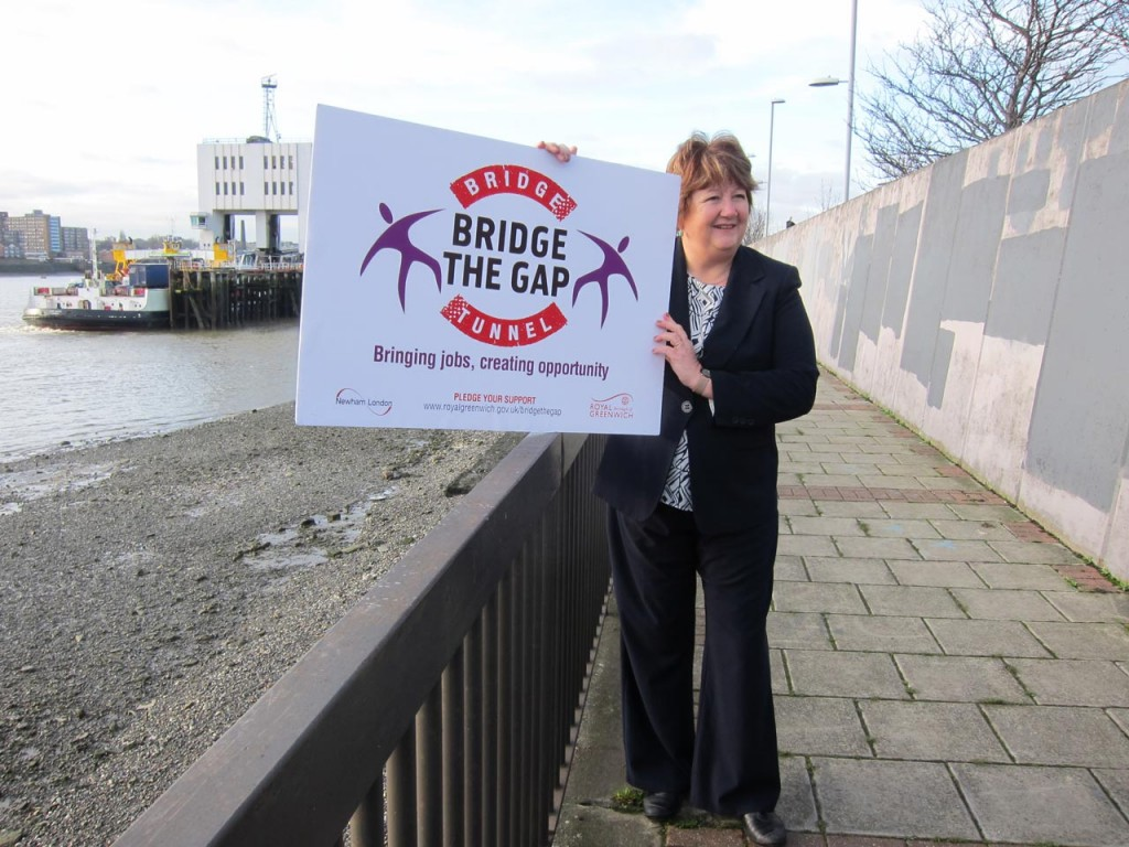 Councillor Denise Hyland at the launch of Bridge the Gap