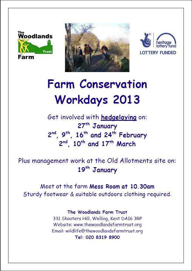 Woodlands Farm Conservation Workdays