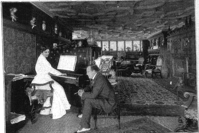 The drawing room at Jackwood: Miss Maxine Elliot and Mr. N.C. Goodwin