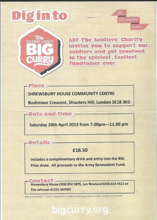 Big Curry at Shrewsbury House Leaflet