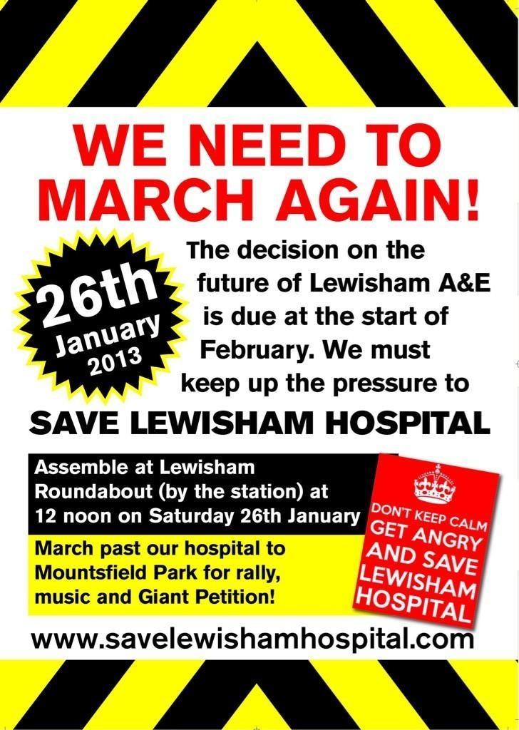 Save Lewisham A & E Leaflet