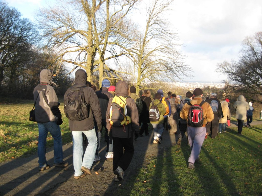 Ian's photo taken in Shrewsbury Park when he led the walk in 2009