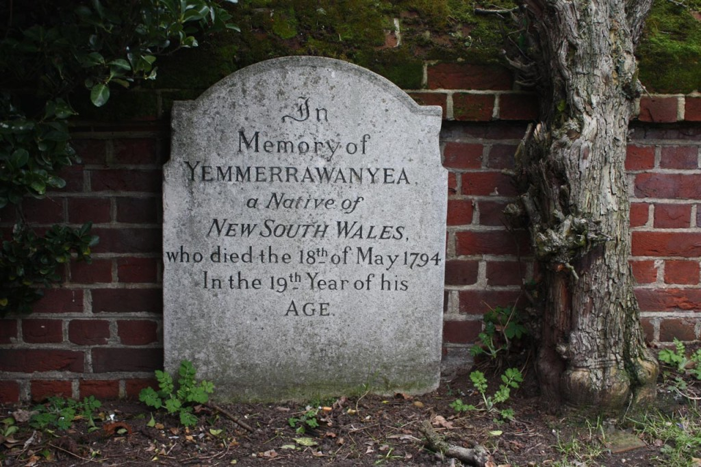 Grave of Yemerrawanyea at St John the Baptist
