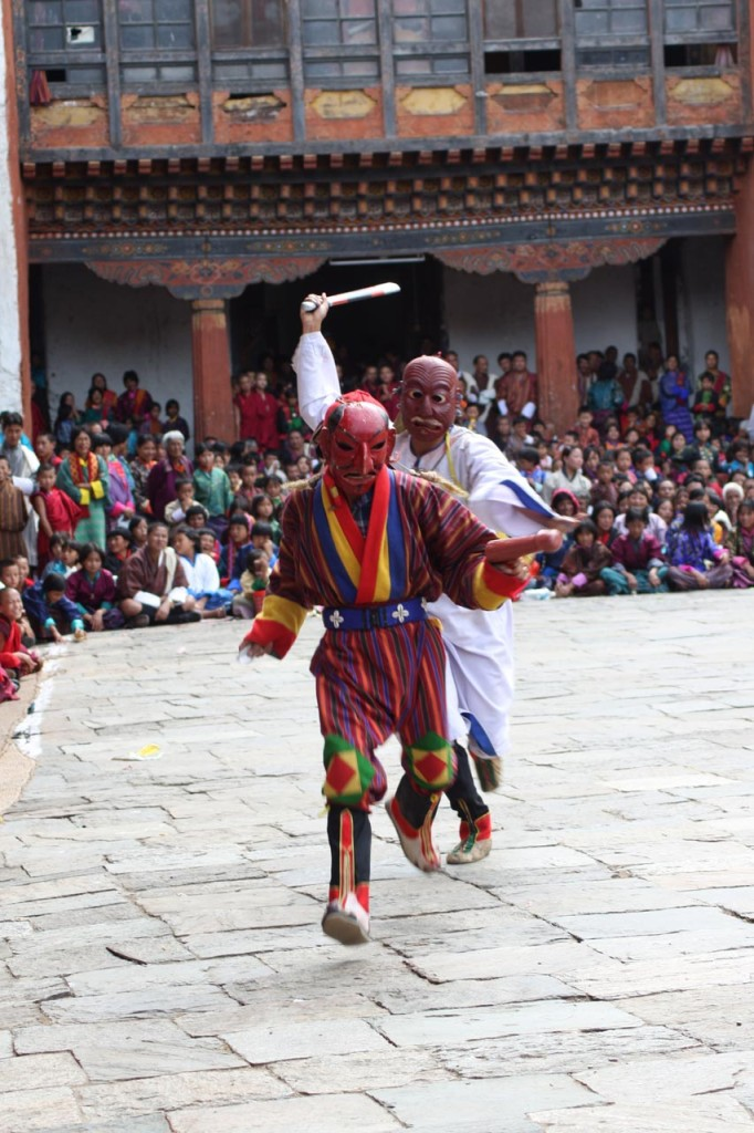 The Pholay Molay dance at Wangdue Phodrang Dzong in Bhutan
