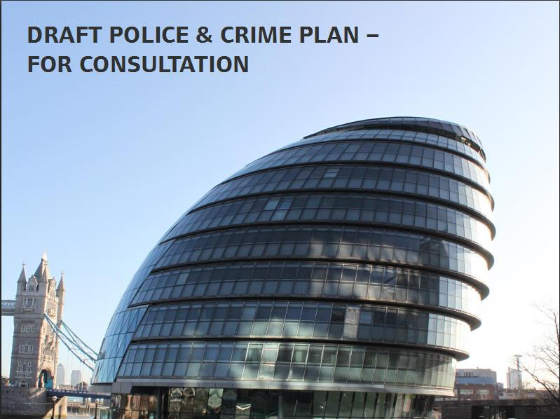 MOPAC  Draft Police and Crime Plan Front Cover