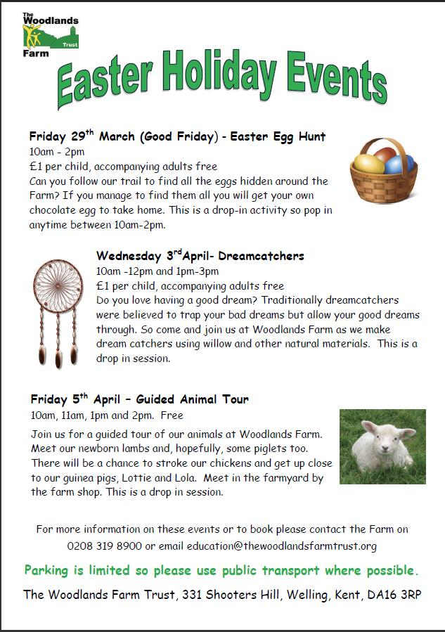 Easter Holiday Activities at Woodlands Farm