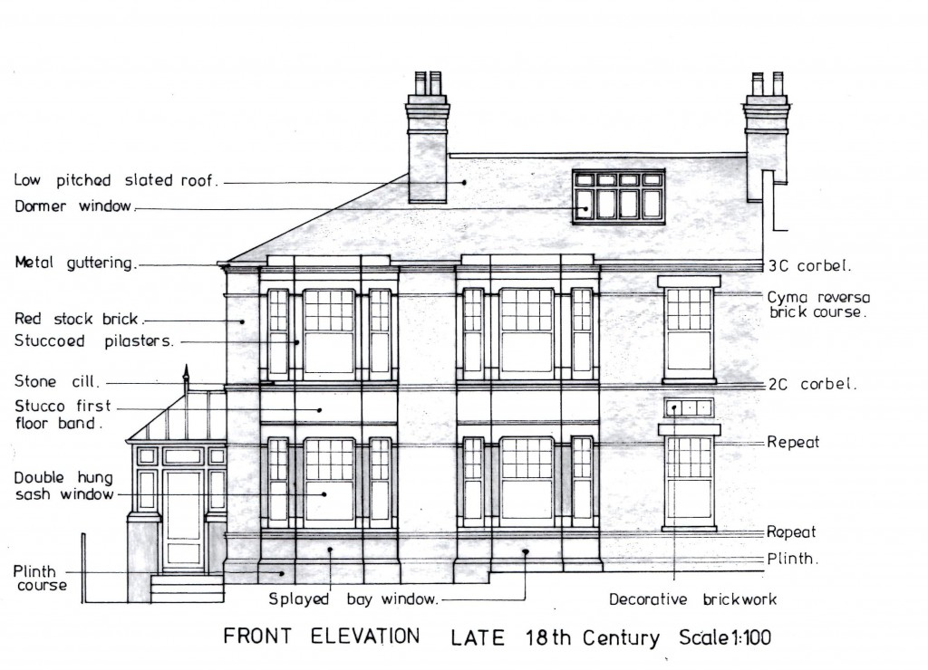 153 Eglinton Hill Front Elevation by G.J. Paszkowski