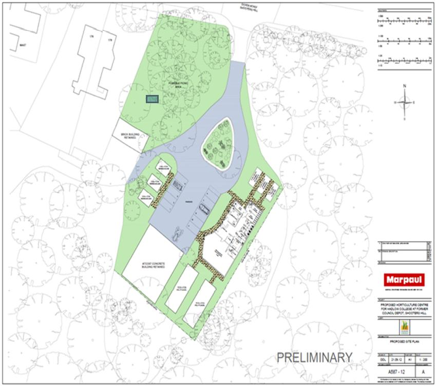 Preliminary Plan for Horticultural Skills Centre