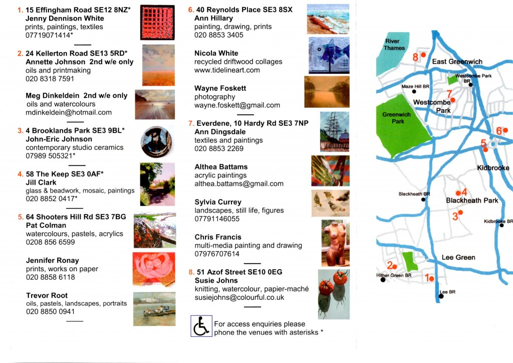 Blackheath Art Society  Map