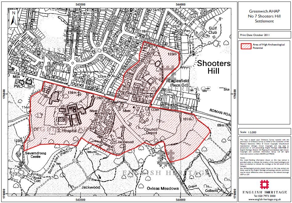 Greenwich Areas of High Archaeological Potential No 7 Shooters Hill