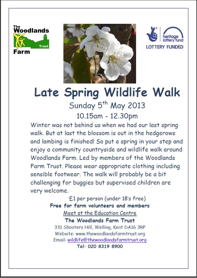 Late Spring Wildlife Walk Poster