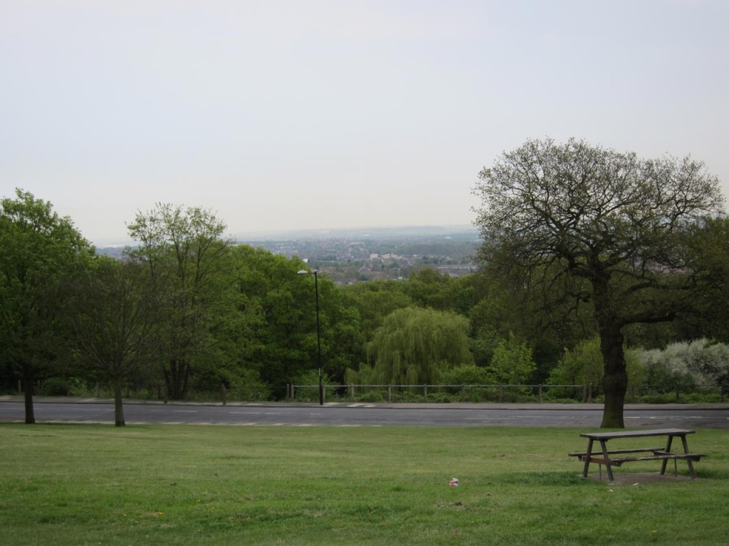View from Eaglesfield Park towards Bexley and the Lower Thames
