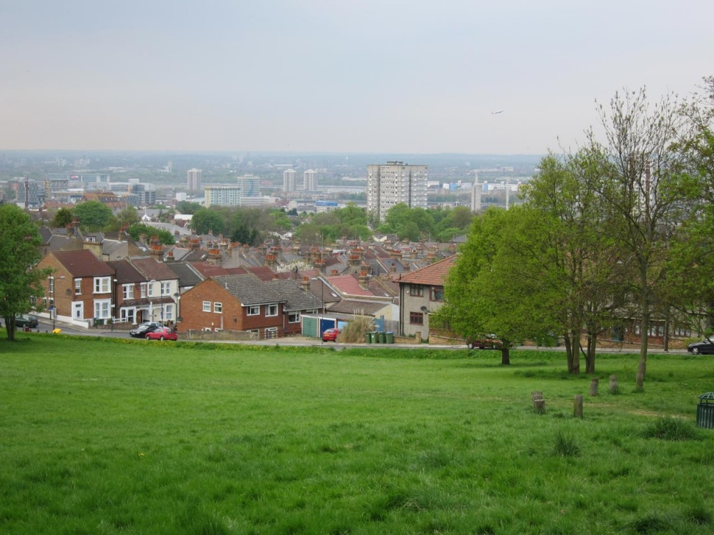 View from Shrewsbury Park towards Woolwich and the Thames