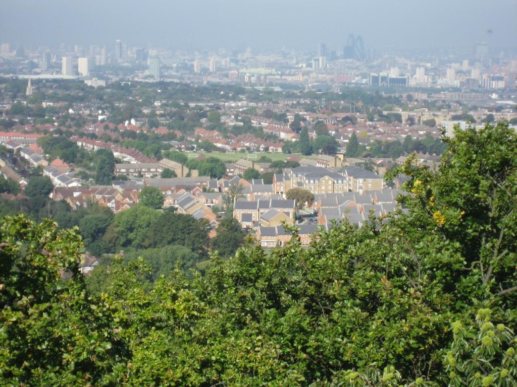 View from the top of Severndroog Castle
