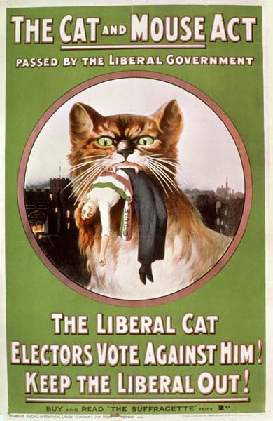 Museum of London Cat and Mouse Act Poster from Wikipedia