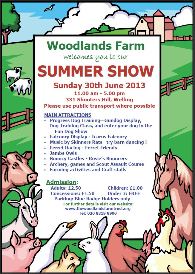 Woodalnds Farm Summer Show Leaflet